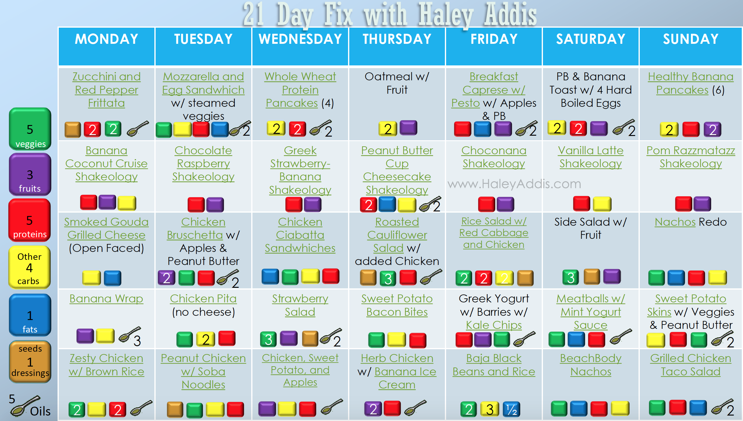 Haley Addis Meal Plan2