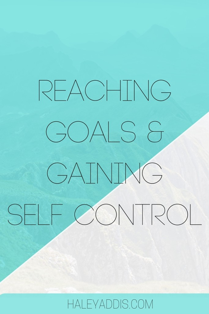 Setting and achieving goals can be a tough nut to crack, but here is a new concept to help you gain some self control and reach your goals.